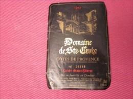 ETIQUETTE DE VIN -  1993 DOMAINE DE SAINTE CROIX   CUVEE ST PIERRE COTE  DE PROVENCE CARCES VAR=>USEE - Vino Tinto