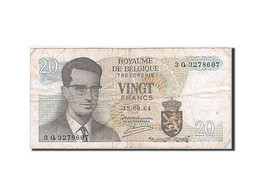 Belgique, 20 Francs, 1964-1966, KM:138, 1964, TB - [ 2] 1831-... : Royaume De Belgique