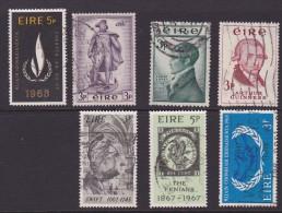 Ireland Scott  Collection 7 Commemoratives Used VF - 1949-... Republic Of Ireland