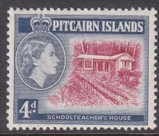 PITCAIRN Is, 1957 4d SCHOOLTEACHERS HOUSE MVLH - Francobolli