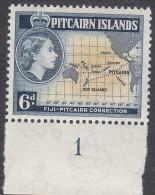 PITCAIRN Is, 1957 6d MAP MVLH - Francobolli