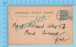 Canada ( Stationary 1907 Cachet Cover Fort William Ont. W.J. Copp Son & Co To Rock Island Quebec ) 2 Scans - Cartas