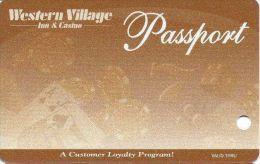 Western Village Casino Sparks NV - Passport Slot Card  (Blank) - Casino Cards