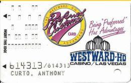 Westward Ho Casino Las Vegas Slot Card With Blue Logo - Casino Cards