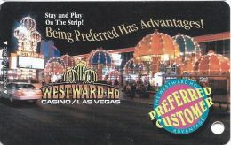 Westward Ho Casino Las Vegas Slot Card  (Blank) - Casino Cards