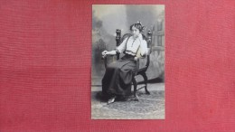 RPPC  To ID   Lady In Chair          =2144 - Postcards