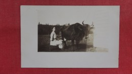 RPPC  To ID Lady With Cow=2144 - Postcards