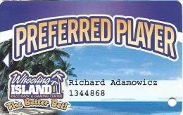 Wheeling Island Preferred Player / Slot Card  (Printed) - Casino Cards