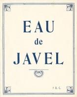 EAU DE JAVEL 7 D.C. - Etiquettes