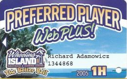 Wheeling Island Preferred Player Web Plus / Slot Card - Casino Cards