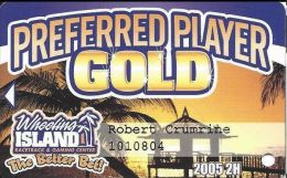 Wheeling Island Preferred Player Gold / Slot Card 2005 2H - Casino Cards