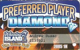 Wheeling Island Preferred Player Diamond Card 2005 1H - Casino Cards