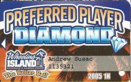 Wheeling Island Preferred Player Diamond / Slot Card 2005 1H - Cartes De Casino