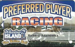 Wheeling Island Preferred Player Racing / Slot Card - Casino Cards