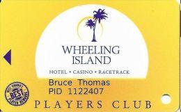 Wheeling Island Gaming  Players Club Slot Card - No Manufacturer Mark - Casino Cards
