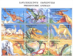 1998. Georgia, Prehistoric Animals, Sheetlet, Mint/** - Georgia