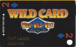 Wild Wild West Casino Las Vegas Slot Card - Copyright 2001 - Casino Cards