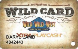 Wild Wild West Casino Las Vegas Slot Card - Copyright 2006 - Casino Cards