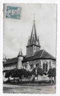 (RECTO / VERSO) HAUTEVILLE EN 1950 - L' EGLISE - BEAU CACHET - CARTE FORMAT CPA - Other Municipalities