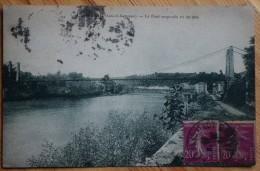 47 : Casseneuil - Le Pont Suspendu Vu De Côté - (n°5168) - France