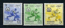 Soudan ** N° 128 à 130 - J.O. De Rome - Soudan (1954-...)