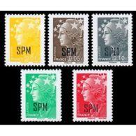 Timbre Saint-Pierre Et Miquelon N°932 à 936 - Non Classés