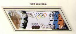 ESLOVENIA 1992 - SLOVENIE - OLIMPYCS BARCELONA 92 - YVERT Nº 27/28 - MICHEL 27/28 - SCOTT 143a/143b - Verano 1992: Barcelona