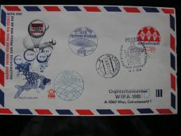 "Ballonpost Brief V. Prage N. Wien ""Ballongruss Der Praga 1978 An Die WIPA 1981"" - Par Ballon"