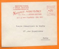 PARIS MARTINE CAROL FELIX MARTEN DARIO MORENO UN FILM DE HENRI DECOIN ( Cinéma ) 1960 Devant De Lettre N° EMA 2411 - Marcophilie (Lettres)