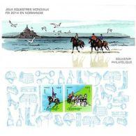 Bloc Souvenir N°97 - Jeux équestres Mondiaux FEI Normandie 2014 - Blocs & Feuillets