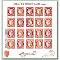 Bloc CERES 1849 Salon Du Timbre Paris 2014 Feuillet N°4871 - Blocs & Feuillets