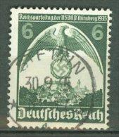 DEUTSCHES REICH 1935: Mi 586 / YT 545, PF N Von Nürnberg Mit Strich Links Oben, O - KOSTENLOSER VERSAND AB 10 EURO - Abarten