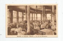 Cp , Hôtels & Restaurants , ¨64 , BIARRITZ , HOTEL DU PALAIS , Un Coin Du Restaurant , écrite , Ed : Schwob Et Richard - Hotels & Restaurants