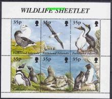 Falkland Islands 1995 Wildlife Sheetlet 6v In Sheetlet ** Mnh (26787A) - Falkland Islands