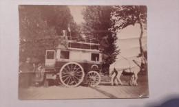 Photographie 11cm/8cm D'une Diligence - Gonesse-arnouville-garges-stains - Sidenis.....en L'etat Froissee - Ohne Zuordnung