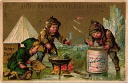 1 Card Liebig Company Fleisch Extract German  S 81, Arnold 20 - BILD03 Nordpolexpedition Kocht Suppen - Liebig