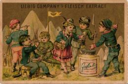 1 Card Liebig Company Fleisch Extract German  S 81, Arnold 20 - BILD02: Österreichisches Soldatenlager, Marketenderin - Liebig