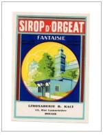 ALGERIE : Etiquette De Sirop . Vintage. Bougie 1950 - Non Classés