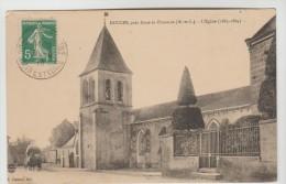 CPA DOUCES (Maine Et Loire) - L´EgliseRue Des Fontaines - Andere Gemeenten