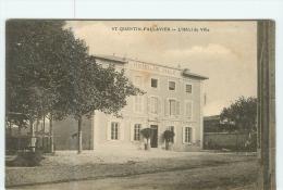 SAINT QUENTIN FALLAVIER - Hôtel De Ville - Poste Et Télégraphes - Caisse D' Epargne - 2 Scans - Sin Clasificación