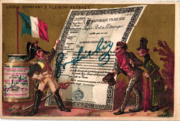 1 Karte Liebig Company Fleisch Extract German  S 92, Arnold 32  - Pässe Der Verschiedenen Nationen FRANKREICH - Liebig