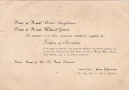 Romania - Bucuresti - 1942 - Wedding Invitation - Boda