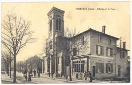 Heyrieux - L'église Et La Poste - France