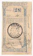 Bon De Poste 1915. Postes Et Télégraphes. Cachet Bierne En Mayenne 1915. - Postal Stamped Stationery