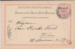 Österreich Post In Der Levante Ganzsache P 14 Konstantinopel 1900 - Levante-Marken