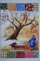 Dachshund - Teckel - Dackel - Bassotto Modern Adv Ukrainian Postcard - Dogs