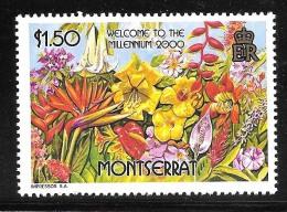 Montserrat Scott   999 Welcome Millenieum  Mint NH VF  CV  2.25 - Montserrat