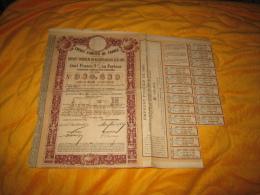 ANCIEN EMPRUNT. / CREDIT FONCIER DE FRANCE EMPRUNT FONCIER DE 500 MILLIONS DE 1885 AVEC LOTS. / RESTE 18 COUPONS 100 FR. - Banca & Assicurazione