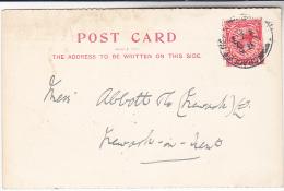 1927 Cradley Heath CDS Pmk GB GV Stamps COVER (card) Gideon Billingham Despatch Works To Abbott Co Newark On Trent - 1902-1951 (Rois)