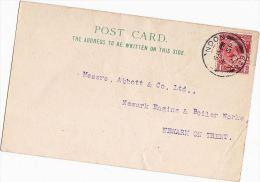 1923 'London 229' CDS Pmk GB GV Stamps COVER (card) London Hoist Machinery Co To Abbott Boiler Works Newark On Trent - 1902-1951 (Rois)